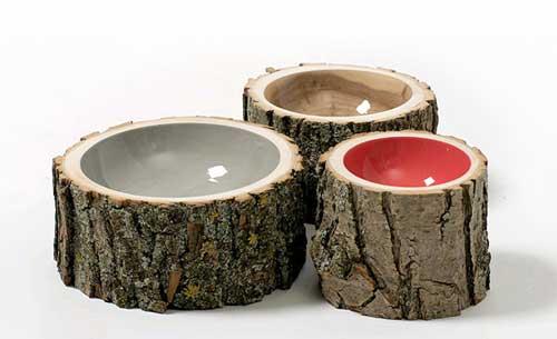 log bowls, designer Chebib
