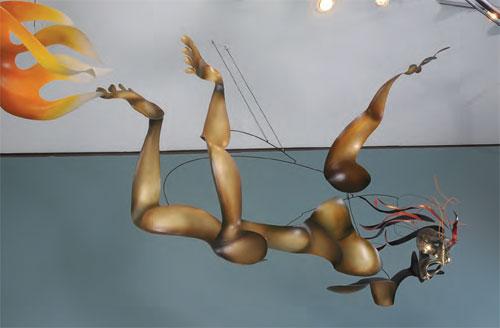 metal sculpture, Icarus, Mark Davis