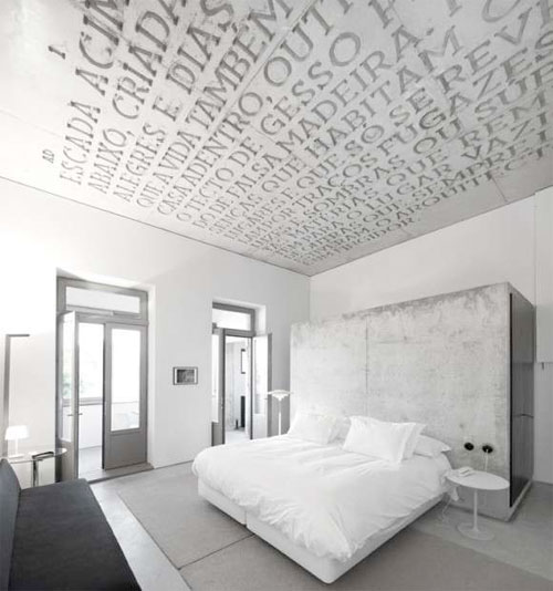 concrete ceiling, Casa do Conto Hotel