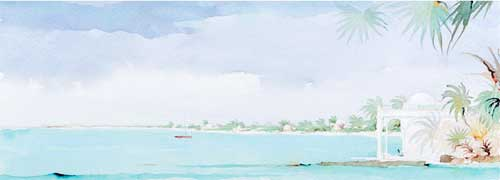 painting: Turquoise at Cap Juluca, Chapon