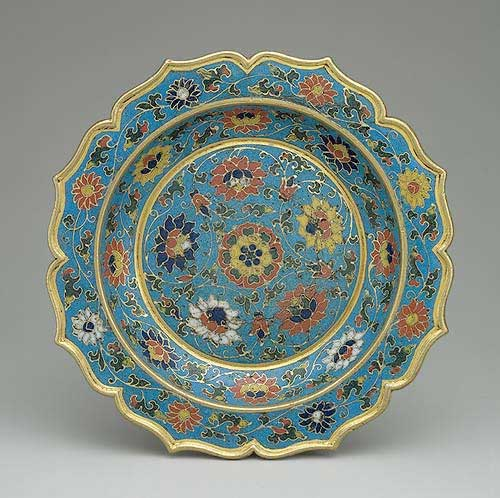 Ming Dynasty Dish, cloisonne
