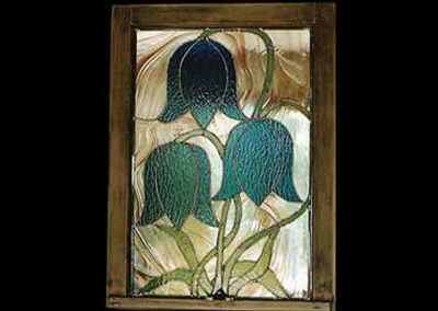 stained glass bluebells by linda oeffling