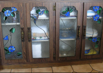 stained glass cabinet doors by linda oeffling
