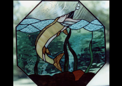stained glass musky by linda oeffling