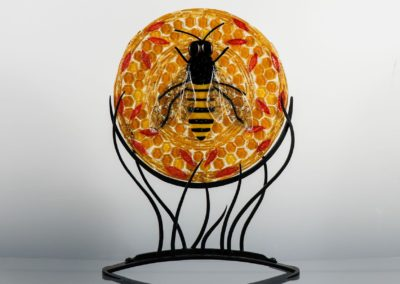 fused-glass-mandala-bee-on-skep