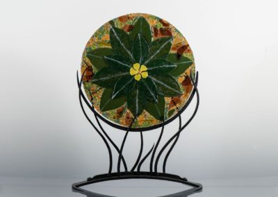 fused-glass-mandala-mullein by linda oeffling