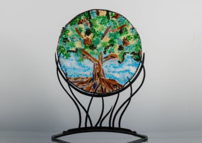 fused-glass-mandala-tree-of-life by linda oeffling