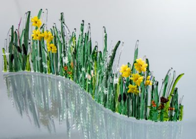 fused-glass-tabletop-curve-summer-meadow-with-monarch by linda oeffling