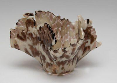 """fused glass vase """"osprey"""" by linda oeffling"""