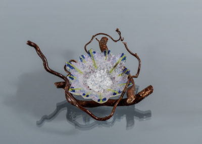 fused glass dewcatcher by linda oeffling