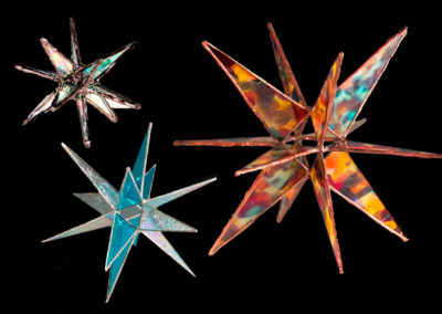 stained glass 3d moravian stars