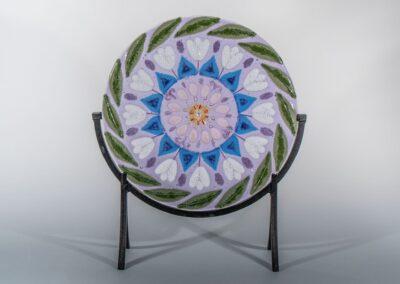 "Fused Glass Mandala ""Spring Season"""